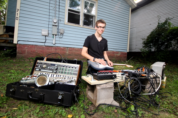 A WHOLE BUNCH OF MUSICMAKERS. Elliot Etzkorn, who plays as Deimos Phobos, has quickly solidified himself as a large part of Eau Claire's DIY music scene.